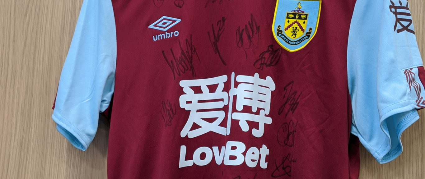 BID FOR SOME SPECIAL BURNLEY FC MERCHANDISE!