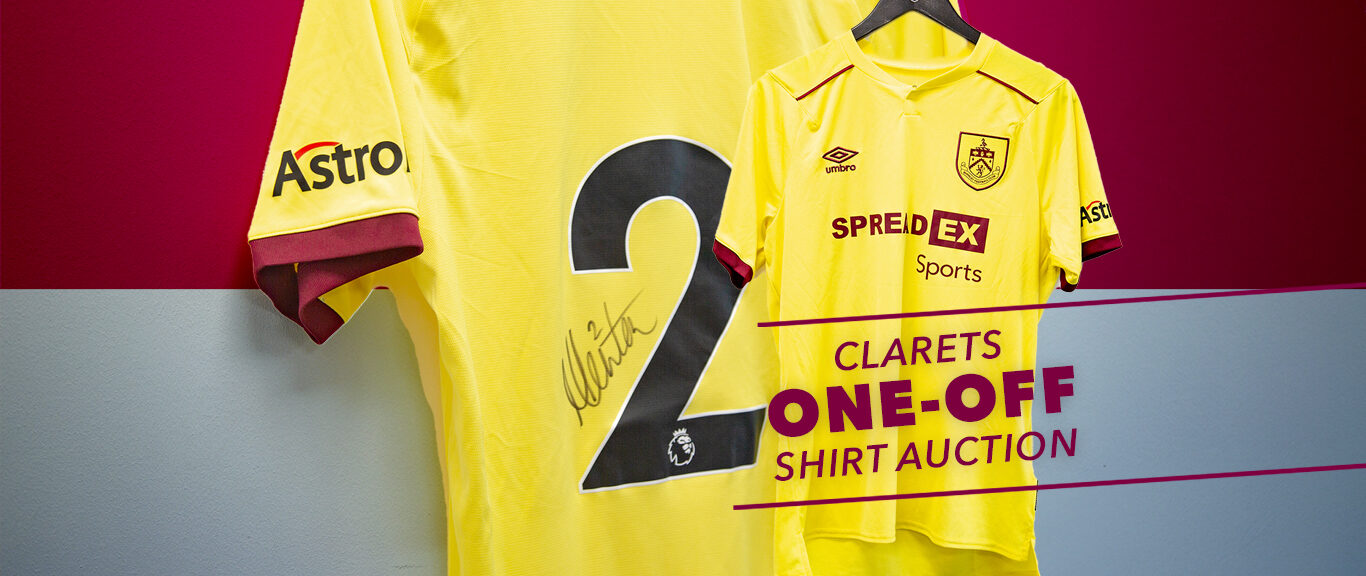 Clarets one-off shirts up for Auction!